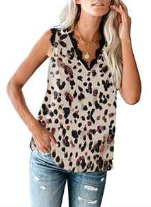 NC Women's Summer Tops Casual V Neck Vest Top Sleeveless Cami Shirt Tank Top Blouse for Ladies