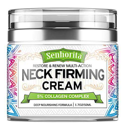 Neck Firming Cream,Anti Aging Wrinkle Firming Moisturizer for Double Chin Reducer & Décolleté Neck, 1.7 fl oz