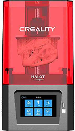 Creality HALOT ONE Resin 3D Printer, UV Photocuring LCD Resin 3D Printers with 6 inch Monochrome LCD, Integral UV LED Light Source, App Smart Control, OTA Support Print Size 5x3.2x6.3 inch