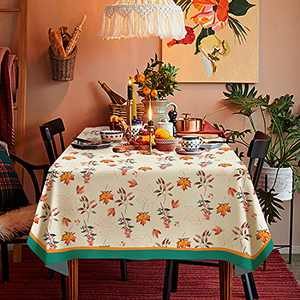 """Fall Decoratin Tablecloth Rectangle Table Cover Thanksgiving Christmas Decoration Table Linen Perfect for Autumn Harvest Festivet Party Kitchen Dinner TableTopper,60"""" x 84"""" (6-8 Seats)"""