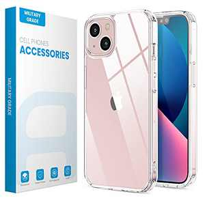 ANEMAT Compatible with iPhone 13 Case: Clear Case Cover for iPhone 13 2021 6.1 inch [Upgraded Materials] [Anti Yellowing] [Shockproof Protective] Hard PC Back with Flexible TPU Bumper, Clear