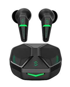 Black Shark Wireless Earbuds Bluetooth Earphones with 55ms Ultra-low Latency, Gaming Earbuds with Bluetooth 5.2, Dual Modes, 10mm Driver, 35H Playtime, IPX4 Waterproof, Built-in Mic, for Home & Office