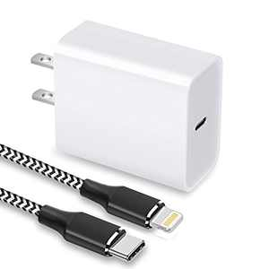 iPhone Fast Charger, 20W USB C Wall Charger with 6FT Cable Type C Charger Adapter Compatible with iPhone 12/12 Mini/12 Pro Max/11 Pro Max/XS Max/XS/XR/X,iPad Pro