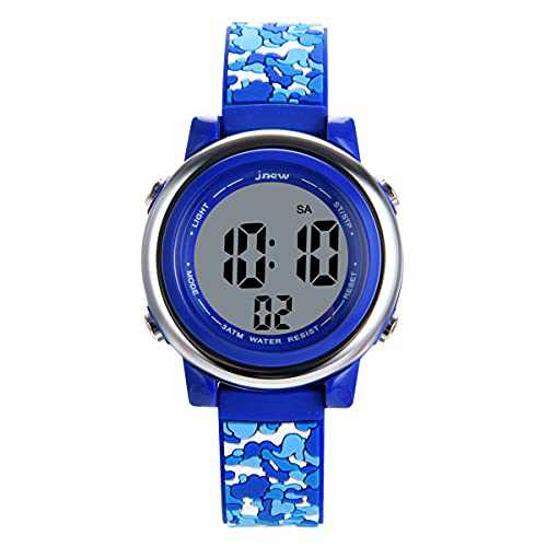 WUTAN Kids Watch Boys Girls Digital Watches Waterproof with Alarm Date Stopwatch Sport Watch for Kid Boy Girl Watches Children Ages 3-12 Reloj para Ninos Ninas (380blue)