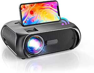 Portable Projector WiFi, Full HD 1080P Supported, 9000: 1 contrast, 6500 Lumens Phone Projector for Movie, Gaming, Outdoor, TV Stick, Home Cinema