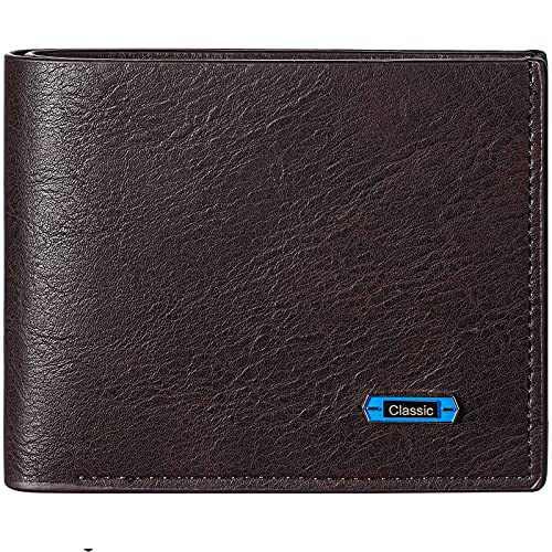 Furid Men's Leather Wallet, Slim Bifold Wallet for Men, Minimalist Front Pocket Wallet