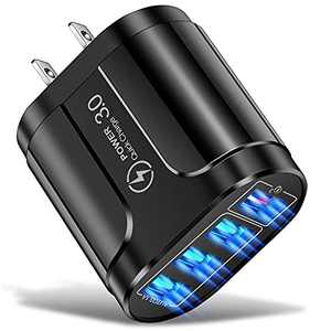LYLBFOF USB Charger, 4-Port 45W Wall Charger, Mobile Phone Fast Charging, Suitable for iPhone 11/12/Pro/Max/Xs/XS Max/XR/X/8/7/6/Plus, iPad Pro/Air 2 / Mini 3 / Mini 4