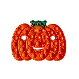 Pumpkin Push Pop Bubble Fidget Sensory Toys Halloween Decorations Stress Reliever Silicone Anxiety Relief Party Favors Squeeze Sensory Gadget Game Special Education Supplies Gift for Children Kids & Adults No String Attached