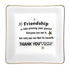 Christmas Gifts Stocking Stuffers for Women Her Girls Friends, Ceramic Ring Dish Jewelry Tray Birthday Graduation Gifts for Best Friends Female