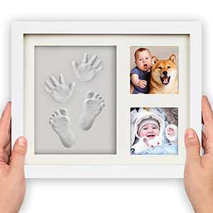 Baby Hand & Footprint Keepsake Gifts, BoxRice Baby Footprint Handprint Impression Photo Frame Clay kit, Newborn Boy Girl Gift for Mom | Dog Cat Paw Print Memorial Impression Keepsake Kit
