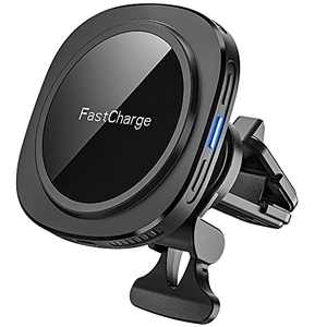Magnetic Car Mount Charger, [Upgraded Version] CHGeek 15W Qi Fast Charging Wireless Car Charger Phone Mount Air Vent Phone Holder ONLY for iPhone 12 / iPhone 12 Mini/iPhone 12 Pro/iPhone 12 Pro Max