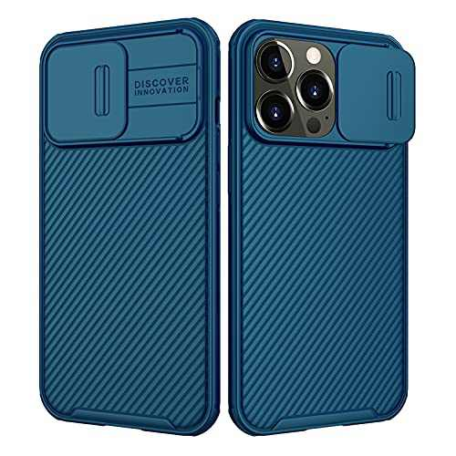 for iPhone 13 Pro Case, Nillkin CamShield Pro Series Case with Slide Camera Protection Cover, Slim Stylish Protective Case for iPhone 13 Pro 5G - 2021-6.1'' - Blue