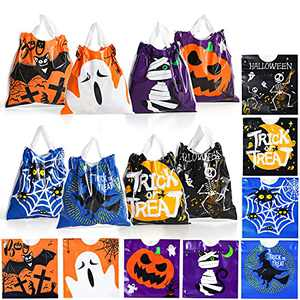 Halloween Drawstring Treat Bags 96 Pack Small Halloween Candy Goodie Bags Trick-or-Treating Gift Goody Bags for Halloween Party Favor Supplies