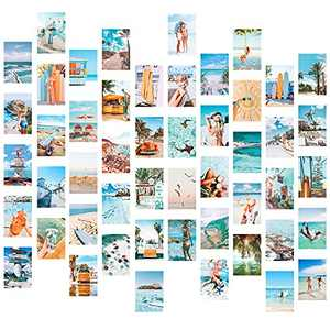 Wall Collage Kit Aesthetic Room Decor, Posters for Room Aesthetic, 50PCS 4x6 Inch BOHO Posters Room Aesthetic Pictures for Bedroom Wall Decor for Teen Girls
