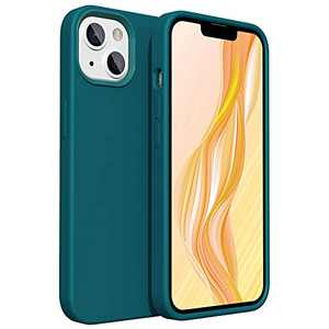 Olsenms Compatible for iPhone 13 Case Turquoise, Slim Silicone Phone Cases for iPhone 13 6.1 2021 with Soft Microfiber Lining, Shockproof Gel Rubber Full Body Protection, Smooth Touch Feeling
