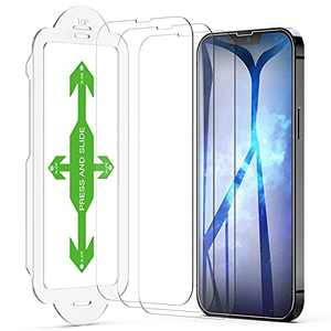 Easyframe Compatible for iPhone 13 Pro Max Screen Protector Tempered Glass, Olsenms 3 Packs Anti Scratch Anti Crack Designed for iPhone 13 Pro Max Screen Protector, 6.7 Inch 9H 2.5D 0.33mm