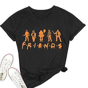 T&Twenties Women's Horror Movies Shirt Vintage The Boys of Fall Halloween Friends Shirt Friends Horror Scary Movies Tees