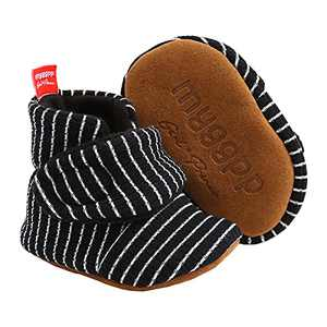 Baby Girls Boots, TMEOG Baby Fleece Cozy Boots Lovely Slippers Infant Toddler First Walkers Winter Warm Shoes + Cute Socks (A-Black Strips, 12_months)