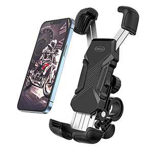 Bike Phone Mount, Motorcycle Phone Mount, Full Protect Anti Shake Slip Bike Phone Holder, 360 Degree Rotation Universal Cell Phone Holder for Bike