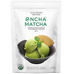 Encha Culinary Grade Matcha Green Tea - Second Harvest Organic Japanese Matcha Green Tea Powder, From Uji, Japan (60g/2.12oz)