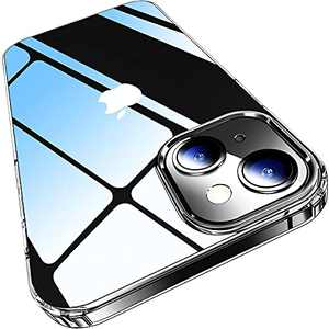 Elando Crystal Clear Case Compatible with iPhone 13 Case, Non-Yellowing Protective Shockproof Slim Thin Phone Case, 6.1 inch
