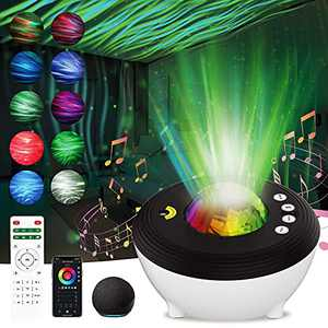 Star Projector Night Light for Kids Room, Aurora Galaxy Projector Work with Alexa & Smart App, Remote & Voice Control, Bluetooth Speaker,White Noise,Timer, Bedroom Ceiling Decor Adults Christmas Gift