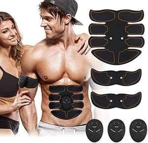 Jarper ABS Trainer Muscle Stimulator, Portable Abdominal Muscle Toning Belt Home Fitness Training Equipment, Simple Operation for Abdomen/Arm/Leg Training Men and Women 6 Modes & 10 Levels