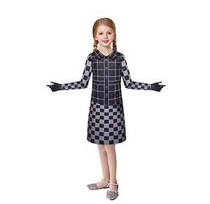 Costume for Girls Halloween Evil Madame Costumes Long Sleeves Top and Skirt Dress Set 5-12 Years
