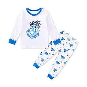 pureborn Baby Boys Pajamas Set Long Sleeve Pjs Cotton Sleepwear Shark in Sunglasses 12-18 Months