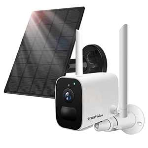 Wireless Security Camera Outdoor, 1080P Solar Powered Battery Camera, WiFi Home Surveillance Camera, Two Way Audio, PIR Motion Detection and IP65 Waterproof,SD/Cloud Storage