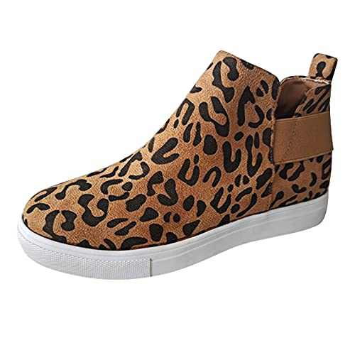 Women's Fashion Sneakers Classic Perforated Slip on Flats Comfortable Walking Sports Casual Shoes (Brown, Numeric_7_Point_5)