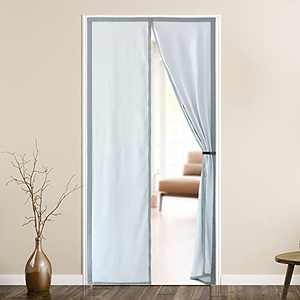 Magnetic Insulated Door Curtain,Upgraded 36 Magnets Self-Closing Privacy Thermal Door Screen magnet closure,Heavy Duty Coated Fabric,Keep Cool Summer,Warm Winter for front single patio bedroom doorway