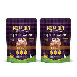 Nellie's Free Range Eggs French Toast Mix – Chocolate (2 Pack), Gluten & Sugar Free, Keto, High Protein Breakfast Food, Just Add Water / Milk & Coat Bread, Alternative to Pancake, Waffle, Baking Mixes