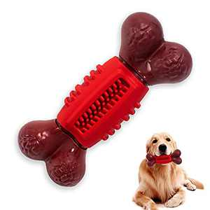CLOUDPRO Dog Chew Toys, Dog Toys for Large Dogs Aggressive chewers and Teething Toys Nylon with Natural Rubber Dental Care Chew Bone Lively Beef Scented Puppies Dog Teeth Toys