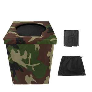 Yunnix Camping Toilet Portable Potty Adults Travel Toilet or Folding Stool for Car Camping, Hiking, Trips, Traffic Jam