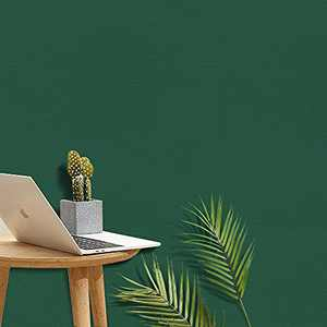 """Green Contact Paper Peel and Stick Wallpaper Self Adhesive Removable Embossing Vinyl Furniture Countertop Renovation Film Shelf Cabinet Drawer Cover DIY Decoration 17.71""""x 78.7"""""""
