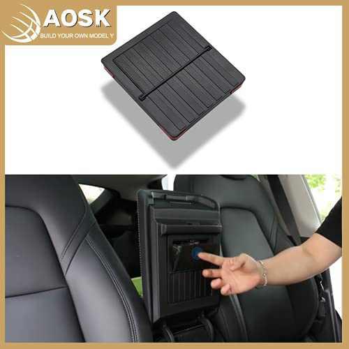 AOSK Upgraded Push Open Armrest Hidden Push Open Storage Box, for Tesla Model 3 Model Y Center Console Organizer