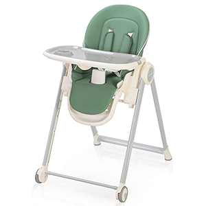 High Chair for Babies and Toddlers - Baby Highchair Foldable with Removable Tray, Multiple Adjustable Height and Backrest, Premium Durable - Reclining & Converts to Dining Booster Seat