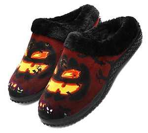 Men's Memory Foam Slippers DIY Halloween Costumes Pumpkin pattern Costume ideas makeup