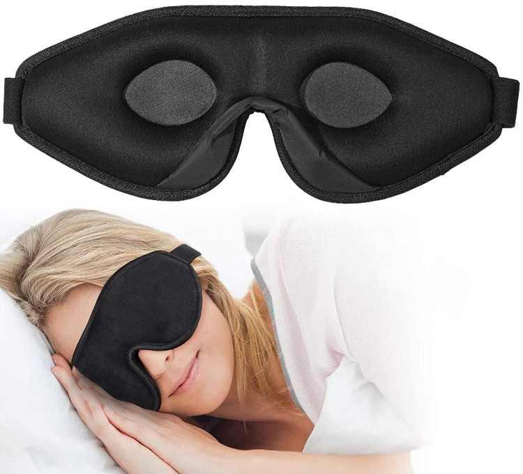 onaEz Sleep Mask for Women & Men, 3D Comfort Ultra Soft Premium Eye Mask for Sleeping, Block Out Light 100% Eye Shade Cover, Adjustable Strap Silk Foam Eye Mask Blindfold, Travel/Naps/Yoga/Plane/Night