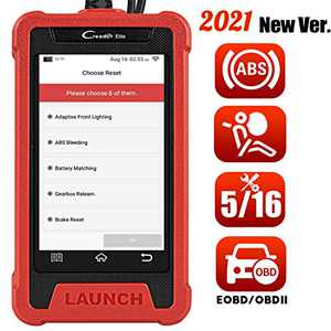 LAUNCH EOBD OBD2 Scanner Tool for Car ABS SRS Code Reader,Android Smart Automotive Diagnostic Tools with 5 Customized Reset Service,ABS Bleeding/Oil/Injector/EPB/IMMO/TPMS,Auto VIN