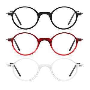 Retro Round Reading Glasses Blue Light Blocking,Computer Readers for Women Men,Lightweight Eyeglasses Anti Glare UV Filter