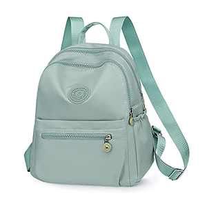IPOTECH Backpack Purse for Women Water Resistance Oxford Rucksack Fashion School Bag Casual Lightweight Daypack for Teen Girls Green