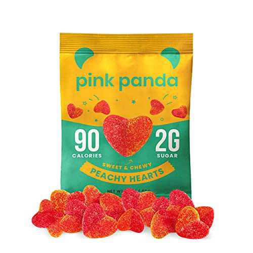 Pink Panda Peach Gummies Vegan Candy – Gluten Free Low Calorie Candy Makes the Perfect Healthy Snack (6-Pack)