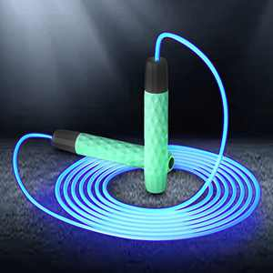 MATINO Luminous Rope Skipping, Weighted Jump Rope for Women and Men, Extreme Jumping, Endurance Training and Fitness Gym,