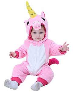 Camlinbo Unisex Baby Dinosaur Costuems Toddler Infant Romper Flannel Dinosaur Outifts Halloween Costumes 3-36 month (Unicorn, 24-30 months)