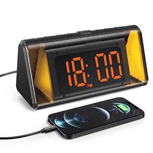 Dekala Digital Clock Large Display Dual Alarm with Night Light for Seniors Elderly Kids Heavy Sleepers Simple Electric Desk Alarm Clock Radio with USB Charger (5 inch Display)