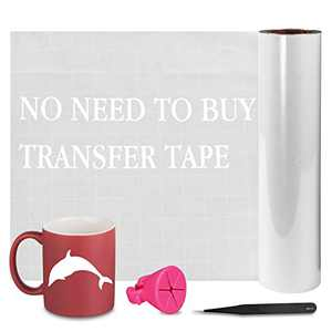 """unuaST Updated White Permanent Vinyl Roll, Reverse Weeding No Need for Vinyl Transfer Tape, White Adhesive Vinyl Roll- 12""""x 30FT for Cricut, Silhouette, and Cameo Cutters"""
