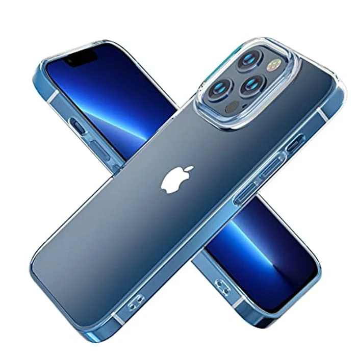 iPhone 13 Pro Crystal Clear Case, JRCMDS iPhone Protective Case, Strong Slim Thin Protective Cover for iPhone 13 Pro, Anti-Scratch and Yellowing Clear iPhone 13 Pro Case