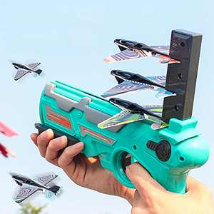 BETTINA Airplane Toys, Bubble Catapult Plane Toy Airplane with 4pcs Glider Foam Plane